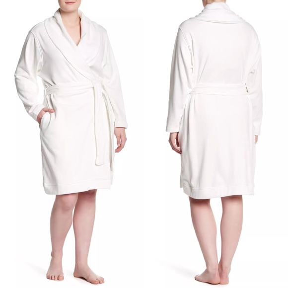 New Plus Size UGG Blanche Short Robe 1X Cream 4f1ace7d2